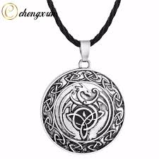 silver coin pendant necklace images Chengxun men 39 s stainless steel necklace legendary dragon pendant jpg
