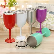 2017 wholesale 10oz stainless steel wine glass wall