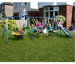 Kids Backyard Playground Outdoor Swing Set Metal Kids Backyard Playground Slide Jungle Gym