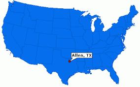 map of allen allen city information epodunk