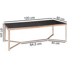 Wohnzimmertisch 100 X 60 Wohnling Design Couchtisch Glasplatte Schwarz Gestell Kupfer 120