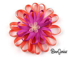 flower bow bow genius flower bow diy hair bow tutorial learn how to