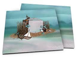 faire part mariage theme mer faire part mariage la mer petit voilier sur fond turquoise