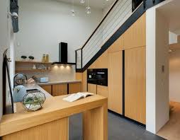 cuisine ludique design interieur meubles cuisine bois chaleureux électroménagers