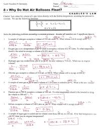 all worksheets gas laws worksheets with answers printable