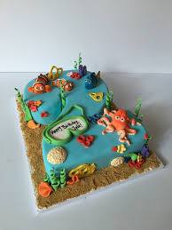 Finding Nemo Centerpieces by Finding Nemo Finding Dory Combo Cake For A 2 Year Old Birthday