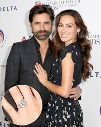 fiancee ring stamos fiancee shows engagement ring details