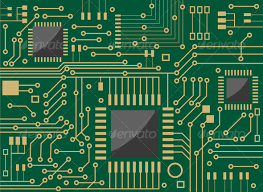 chip design computer microcircuit vector graphics infographics and graphics