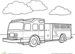 coloring extraordinary fire truck coloring fire truck