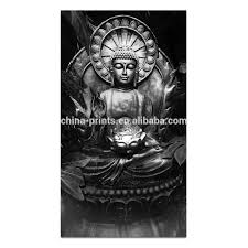 list manufacturers of wall mural painting buy wall mural painting 1 piece buddha black and white painting hd printed canvas murals wall pictures for hotel and living room decor ready to hang