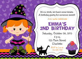Birthday Invitation Card Maker Halloween Party Invitation Purple Witch Halloween