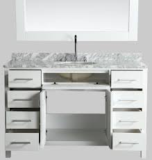 54 inch single sink bathroom vanity set white finish with white