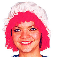 halloween doll wig amazon com raggedy ann wig w hat clothing