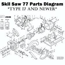 Ridgid Table Saw Parts Skil Model 77 Worm Drive Saw Parts Skil