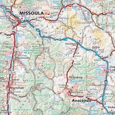 Big Sky Montana Map by Montana Recreation Map U2014 Benchmark Maps
