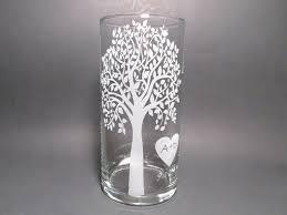 Sand For Wedding Unity Vase Personalized Unity Candle Etched Glass Vase Floating Candle