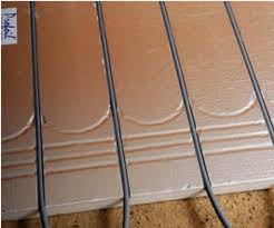 25mm floating floor insulation panel 6 grooves at 200mm centres