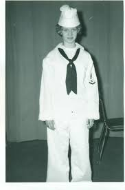 halloween background ww2 1940s in navy sailor white dress uniform costume ww2 era