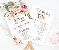 wedding program fans vistaprint 5x7 peony wedding program fan style template printable double