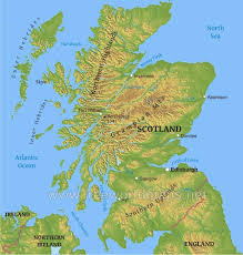 map of and scotland scotland physical map