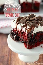 gooey red velvet brownie cake beyondfrosting com redvelvet