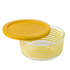 Cup Storage Containers - pyrex simply store 4 cup yellow lane storage dish w lid pyrex
