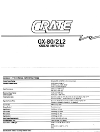 crate amplifiers musical instrument amplifier gx 80 user guide
