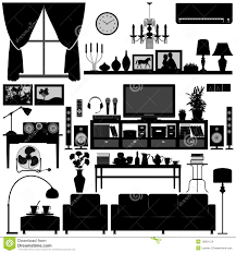 Black And White Home Interior Living Room Furniture Home Interior Design Stock Images Image