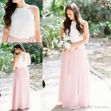 light purple bridesmaid dresses short 2018 chiffon bridesmaid dresses summer country boho light pink maid