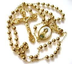 free rosaries our of gold plated copper rosary cross necklace