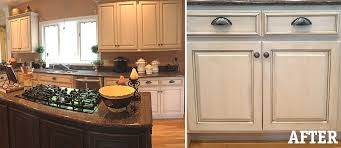 Painted Glazed Kitchen Cabinets Painting Kitchen Cabinets Antique White Glaze Trekkerboy