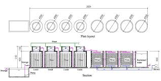 plant layout of hotel china puxin biogas septic tank for hotel wastewater disposal system