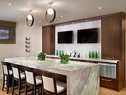 modern kitchen with breakfast bar kitchen and decor
