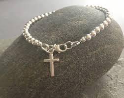 cross bracelet silver images Cross bracelet etsy jpg