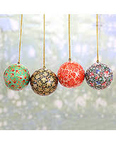 sale papier mache ornaments floral chimes set of 4