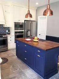 blue kitchen tiles blue and copper subway tile kitchen mercury mosaics