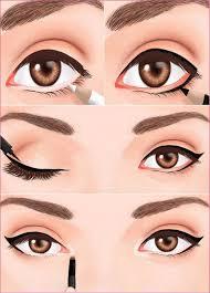 how to apply eyeliner to make eyes look bigger