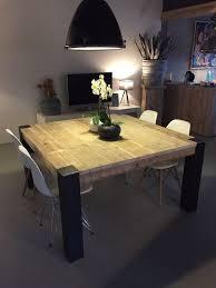 pied de table de cuisine table carrée avec pieds en métal brut meubles tables