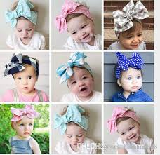 baby girl headwraps baby headwraps top knot dot big bow headband children