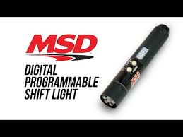 msd programmable digital shift light msd 7542 adjustable intensity led shift light msd performance products