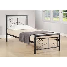 freya super single size bedframe black bed frames bedroom