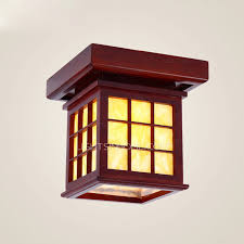 Traditional Ceiling Light Fixtures Mission Type Wooden Material Traditional Ceiling Light