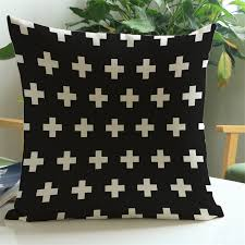 black patterned cushions geometric classic red black pattern bedroom sofa club home coffee