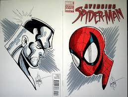 spider man and colossus sketches with colours by kstewart86 on
