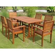 Patio Wood Patio Dining Set Pythonet Home Furniture - Wood patio furniture