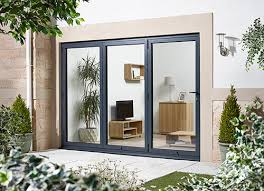 Folding Sliding Patio Doors Oak Veneer Glazed Folding Sliding Patio Doors H2105mm Folding