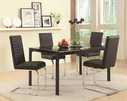 Glass Dining Room by Black Glass Dining Table Steal A Sofa Furniture Outlet Los