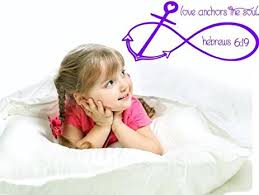 Love Anchors The Soul Wall - com large love anchors the soul wall sticker hebrews 6