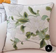Pillows For Grey Sofa Bird Flower Throw Pillows Shabby Chic Sofa Cushions For Grey Sofa