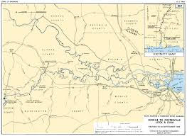 tombigbee waterway map mobile district missions civil works recreation black